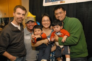 Our Family at the 2009 Radiothon with Jackie and Bender
